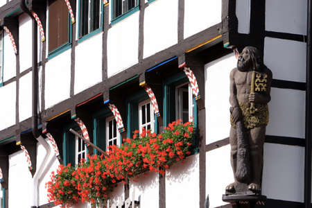 soest: Houses in the historic district, North Rhine-Westphalia, Germany, Soest Stock Photo