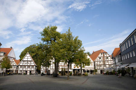 historic district: Houses in the historic district, North Rhine-Westphalia, Germany, Soest Editorial