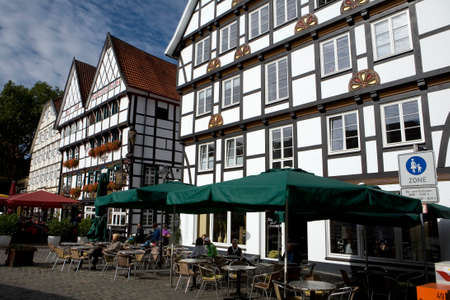 soest: Houses in the historic district, North Rhine-Westphalia, Germany, Soest Editorial