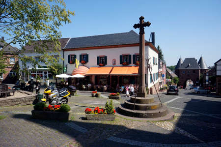 historic district: Market square in the historic district, North Rhine-Westphalia, Germany, Nideggen