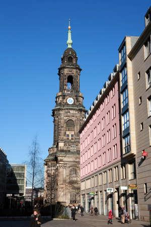 saxony: Kreuz Kirche in Dresden, Saxony, Germany Editorial