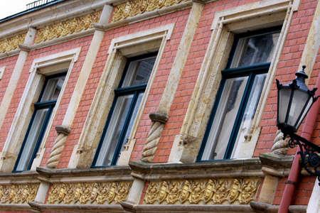 clinker: Restored facade, Saxony, Germany, Selva