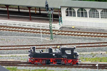 nbrunn: Locomotive Atrappe, Wolkenstein, Saxony, Germany, Schönbrunn