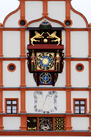 old town townhall: historic town hall on the market square, plauen, Saxony, Germany