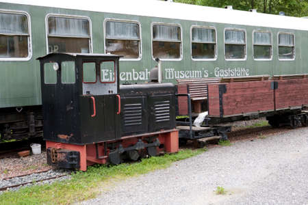 nbrunn: discarded railway carriages, Wolkenstein, Saxony, Germany, Schönbrunn