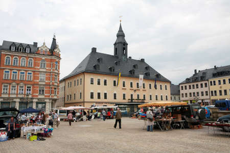 Marketplace Annaberg-Buchholz, Saxony, Germany