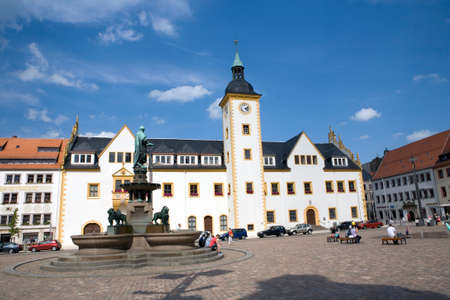 old town townhall: Town Hall on Upper Market, Saxony, Germany, Freiberg