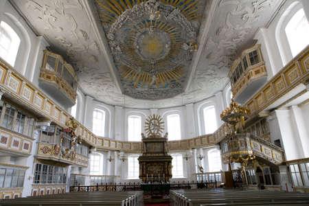 saxony: St George Church, Schwarzenberg, Saxony, Germany Editorial