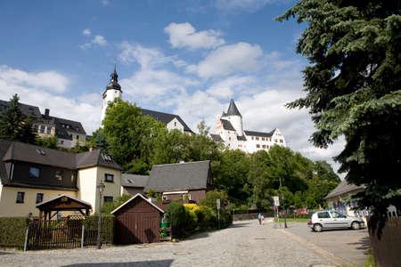 Schwarzenberg, Sachsen, Deutschland Standard-Bild