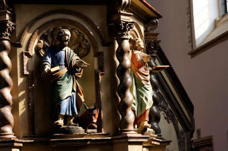 lavishly: Kamp Monastery - lavishly decorated pulpit, Kamp-Lintfort, North Rhine-Westphalia, Germany