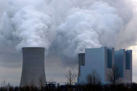 coal fired: Lignite power plant in the Rhenish lignite mining area, Neurath, North Rhine-Westphalia, Germany, Gevenbroich