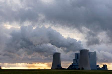 Lignite power plant in the Rhenish lignite mining area, Neurath, North Rhine-Westphalia, Germany, Gevenbroich