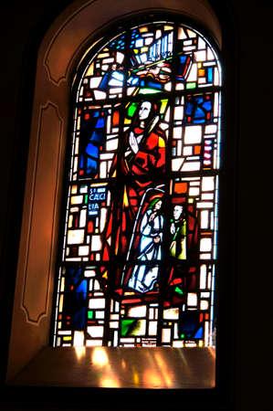 st  mark s: Vetrata nella chiesa di San Marco s, Renania-Palatinato, Germania Editoriali