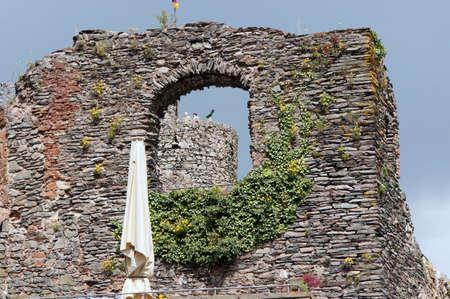 saar: Castle ruins Saar, Rhineland-Palatinate, Germany Stock Photo