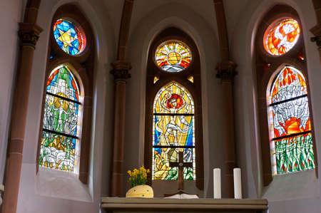 saar: Protestant church Saar, Rhineland-Palatinate, Germany Editorial