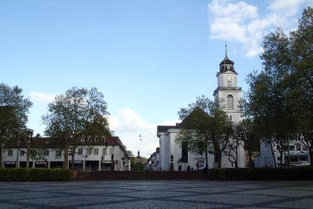 saarland: Peace Church Saarbruecken, Saarland, Germany Stock Photo