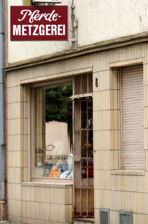 butcher s shop: Horse butcher, Cologne, North Rhine-Westphalia, Germany