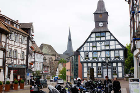 historically: Historic town hall in the old town, Uslar, Lower Saxony, Germany