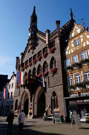 old town townhall: historic Town Hall, Montabaur, Rhineland-Palatinate