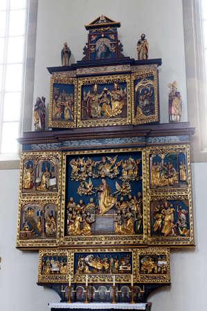 high altar: Saint Burkhard Basilica, Wurzburg, Bavaria, Germany