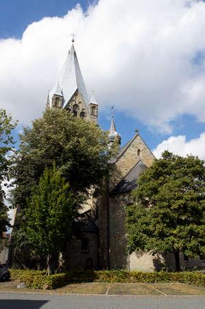 parish: Catholic parish church of Saint Lawrence, Werl, North Rhine-Westphalia, Germany Stock Photo