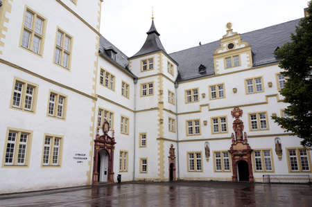 faculty: Friedrich von Spee monument in front of the Faculty of Theology, Paderborn, North Rhine-Westphalia, Germany Editorial