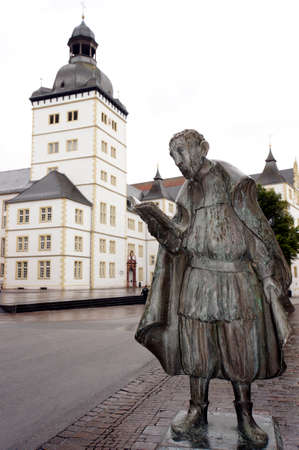 theological: Friedrich von Spee monument in front of the Faculty of Theology, Paderborn, North Rhine-Westphalia, Germany Editorial