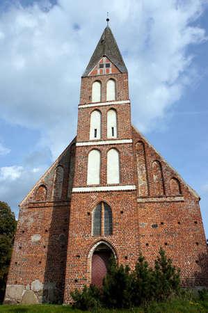 mecklenburg  western pomerania: Brick church Zirkow, Rgen, Mecklenburg-Vorpommern, Germany Stock Photo