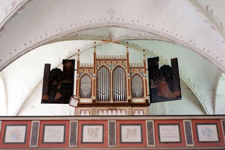 mecklenburg  western pomerania: Brick church Zirkow, Rgen, Mecklenburg-Vorpommern, Germany Editorial