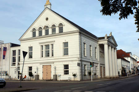 Theater in Neoclassical architecture, Putbus, Rgen, Mecklenburg-Vorpommern, Germany