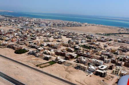 bird s house: Development area in Hurghada, Egypt Stock Photo