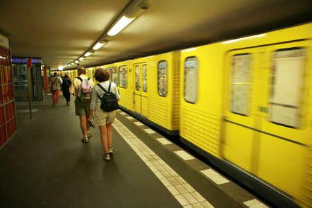 u bahn: yellow underground, Berlin, Germany