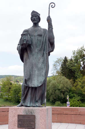 saarland: Leudwinus Memorial, Mettlach, Saarland, Germany