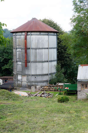 silo: Silo on a farm, Neuenrade, North Rhine-Westphalia, Germany Stock Photo