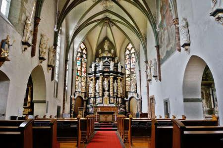 nave: Monastery Church Oelinghausen, Arnsberg-Holzen, North Rhine-Westphalia, Germany Editorial