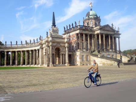 stoop: Communs and colonnades, Potsdam, Brandenburg, Germany Stock Photo