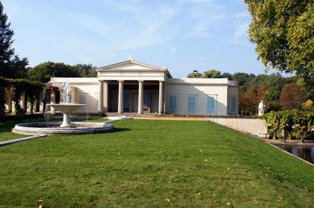 Charlottenhofpaleis in Sanssouci-Park, Potsdam, Brandenburg, Duitsland Redactioneel