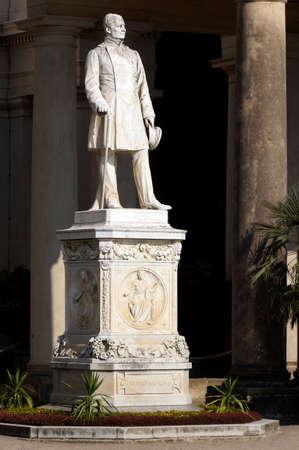 friedrich: Statue of Friedrich Wilhelm IV. In front of the Orangery, Potsdam, Brandenburg, Germany