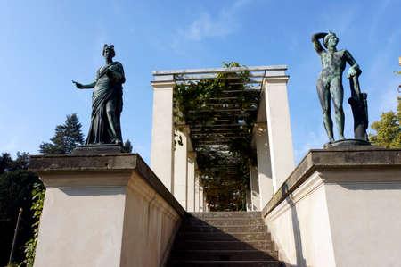 historically: Charlottenhof Palace in Sanssouci Park, Potsdam, Brandenburg, Germany