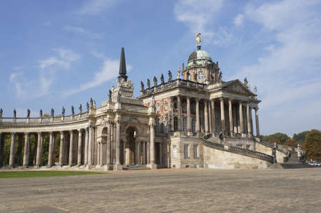stoop: Communs and colonnades, Potsdam, Brandenburg, Germany Editorial