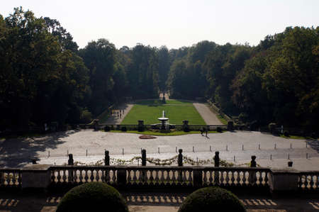historically: View of the Orangerie in the castle park Sanssoucie, Potsdam, Brandenburg, Germany Editorial