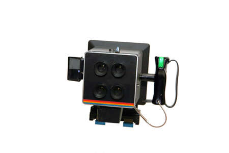 Passport photo Instant Camera with quadruple-optics