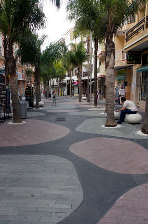 rehabilitated people: Fussgngerzone in the renovated old town, Puerto de la Cruz, Tenerife, Spain
