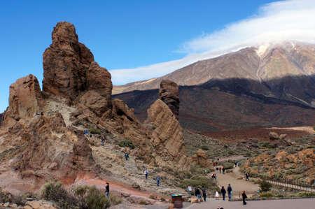hillwalking: Lunar landscape of Las Canadas in Teide National Park