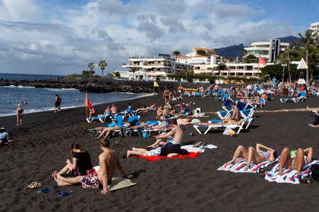 arenas: Beach of Plya de las Arenas, Santiago del Teide, Tenerife, Spain