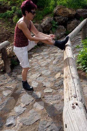 settlement: Kstenwanderung at settlement Romantica, Los Realejos, Tenerife, Canary Islands, Spain Stock Photo