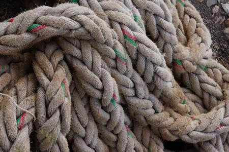 spliced: thick rope, Las Galletas, Tenerife, Canary Islands, Spain