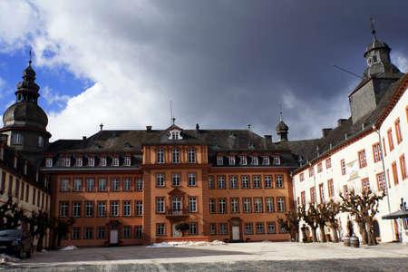 deutschland: Schloss des F�rstengeschlechts Sayn-Wittgenstein, Bad Berleburg, Nordrhein-Westfalen, Deutschland