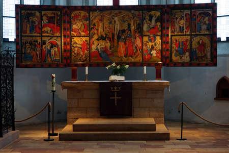 soest: Wildungen altar of Conrad von Soest in town church of St. Nicholas, Bad Wildungen, Hesse, Germany Editorial