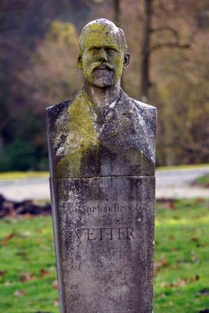 cousin: Monument Hofgarten Director cousins ??World Heritage Mountain Park Wilhelmshhe, Kassel, Hessen, Germany Editorial